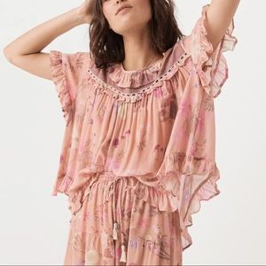 Spell Wild Bloom top pink floral small